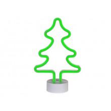 Neonlamppu Joulukuusi