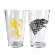 Game Of Thrones Lasit Stark & Lannister 2-pakkaus
