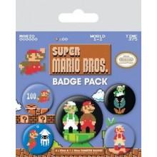 Super Mario Bros Rintamerkit 5 Kpl