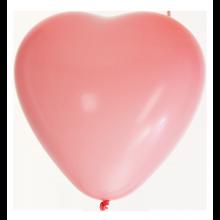 Sydänilmapallot Vaaleanpunaiset 8-pakkaus