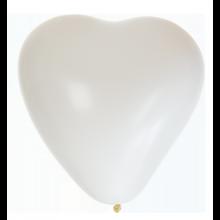 Sydänilmapallot Valkoiset 8-pakkaus