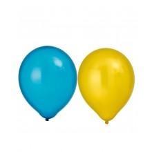 Ilmapallot Metallihohtoinen Keltainen/Sininen 8-pakkaus