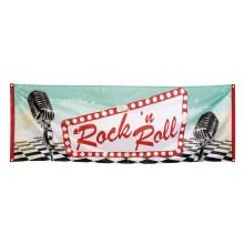 Banneri Rock 50-luku 74 x 220 cm