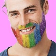 Beard Dazzled - Skägg-glitter Regnbåge