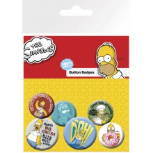 The Simpsons Napit 6-Pakkaus Homer
