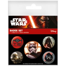 Star Wars Episode Vii First Order Badges 5-Pakkaus
