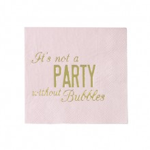 Servetit It´s Not A Party Without Bubbles 16-pakkaus