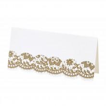 Paikkakortit Elegantti Kulta 10-pakkaus