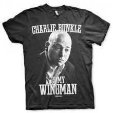 Charlie Runkle Is My Wingman T-Paita Musta