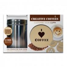 Koristele Kahvi Stensiilien Avulla