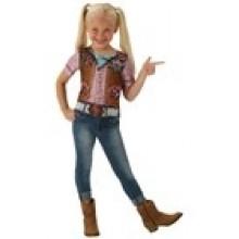 Cowgirl T-paita Lasten Naamiaisasu