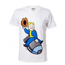 Fallout 4 - Vault Boy Bomber T-paita - XL