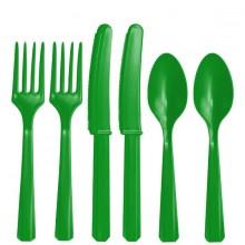 RuokailuvÄLineet VihreÄT 24-Pakkaus