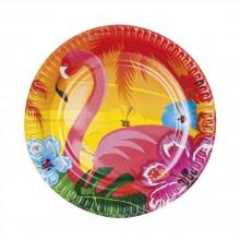 Lautaset Flamingo 6-pakkaus