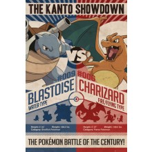 Pokémon Red V Blue Juliste 61 x 91x5cm