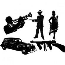 Gangsteri Siluetti 20-Luku 5-Pakkaus