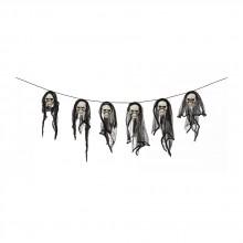 Girlang med Dödskallar 150 cm