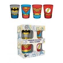 DC Comics Premium Shottilasi 4-pakkaus