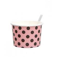 Jäätelöpurkki Lusikalla Vaaleanpunainen/Musta 10-pakkaus