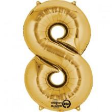 Numeroilmapallo Kulta 8