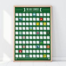 Scratch Off Bucket Lista Golfkentistä