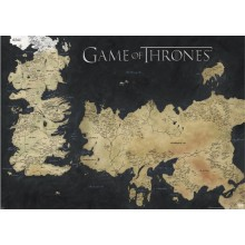 GAME OF THRONES (MAP OF WESTEROS & ESSOS) SUURI JULISTE