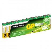 Super Alkaline AA 12-pakkaus Paristoja