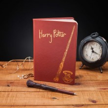 Harry Potter Notesbog Med Tryllestavskuglepen