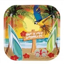 Lautaset Havaiji Ranta 6-pakkaus