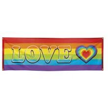 Banneri Sateenkaari Love 74x220 cm