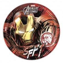 Iron Man Pahvilautaset 8-pakkaus