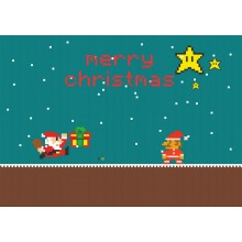 Merry Chrstmas from Super Mario - joulukortti