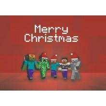 Minecraft Christmas - joulukortti