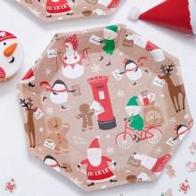 Lautaset Joulupukki & Ystävät 8-pakkaus