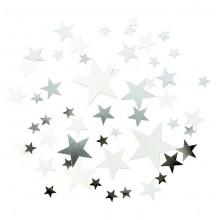 Konfetti Tähdet Elegant Hopea