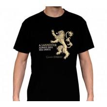 GoT Lannister T-Paita Musta