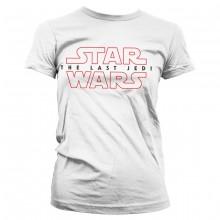 Star Wars The Last Jedi Logo Valkoinen Naisten t-paita