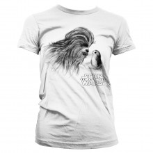 Star Wars Chewbacca & Porg Dam T-shirt