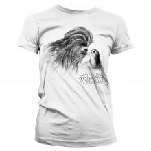 Star Wars The Last Jedi Chewbacca & Porg Dam T-shirt