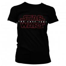 Star Wars The Last Jedi Logo Svart Dam T-shirt