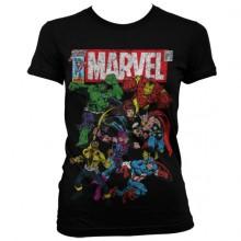 Marvel Comics - Team-Up Naisten T-paita Musta