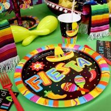 Lautaset Meksiko Fiesta 8-Pakkaus