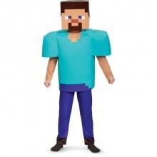 Minecraft Steve Deluxe Lasten Naamiaisasu