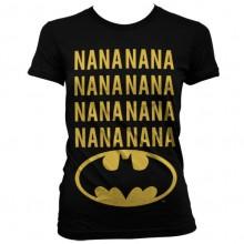 NaNa Batman Naisten T-paita Musta
