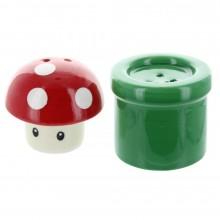 Nintendo Mushroom & Pipe Suola- & Pippuripurkki