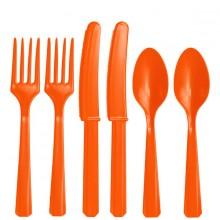 RuokailuvÄLineet Oranssi 24-Pakkaus