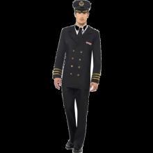 Miesten Laivastoupseeri Naamiaisasu