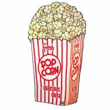 Pehmeä Huopa Popcorn