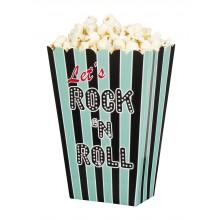 Popcornkulhot Rock 50-luku 4-pakkaus
