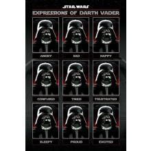 Star Wars Juliste Expressions Of Darth Vader